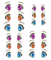 Decals eyes series 31 for 1/6 scale heads