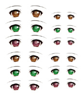 Decals eyes series 6 for 1/6 scale heads