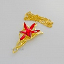 Lord of the Rings - Arven evenstar pendant and necklace (gold and red ver.)