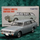 LV-N108b - toyota crown custom 1971 (light blue) (Tomica Limited Vintage Neo Diecast 1/64)