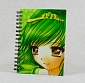 Notebook anime girl green