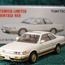 LV-N119b - nissan leopard ultima turbo 1988 (white/gold) (Tomica Limited Vintage Neo Diecast 1/64)