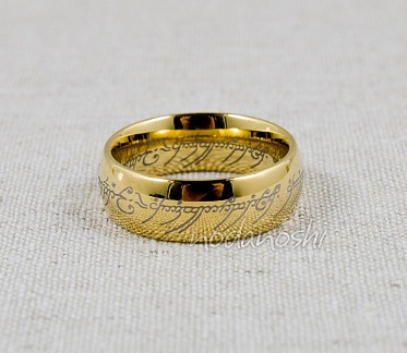 Lord of the Rings (The Hobbit) - One Ring (gold tungsten carbide) размер 9