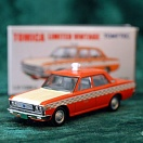 LV-129b - toyopet crown taxi checker cab (orange) (Tomica Limited Vintage Diecast 1/64)