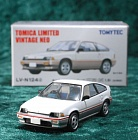 LV-N124d - honda ballade sports cr-x 1.5i 1983 (white/silver) (Tomica Limited Vintage Neo Diecast 1/64)