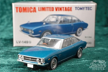 LV-149b - isuzu 117 coupe 1800 (blue) (Tomica Limited Vintage Diecast 1/64)