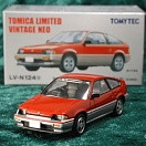 LV-N124a - honda ballade sports cr-x 1.5i (red/silver) (Tomica Limited Vintage Neo Diecast 1/64)