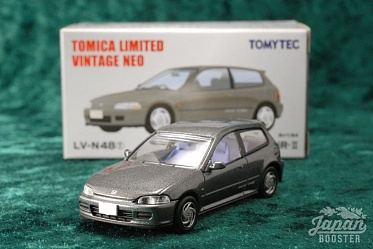 LV-N48f - honda civic sir-2 (gray) (Tomica Limited Vintage Neo Diecast 1/64)