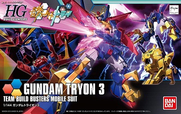 Gundam Tryon 3 Team Build Busters Mobile Suit (HG Build Fighters) (#038)