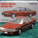 LV-N118b - nissan leopard ultima 1987 (red) (Tomica Limited Vintage Neo Diecast 1/64)