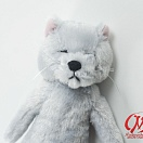 Good Night Meow Stuffed Toy - Gray Cat
