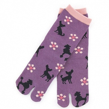 Two-Toe Socks - Chihuahua & Toy Poodle Pattern