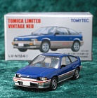 LV-N124c - honda ballade sports cr-x 1.5i 1983 (blue/silver) (Tomica Limited Vintage Neo Diecast 1/64)