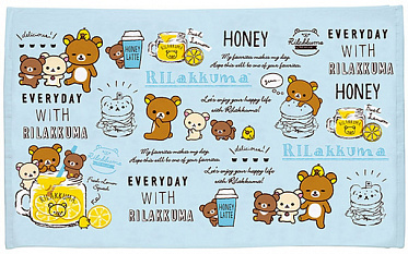Rilakkuma - Summer goods summer bath towel Blue - L size