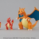 Pokemon Plamo 29 - Pocket Monsters Best Wishes! - Lizardon (Charizard) Evolution Set