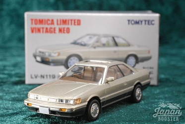 LV-N119a - nissan leopard ultima turbo 1988 (gold/gray) (Tomica Limited Vintage Neo Diecast 1/64)