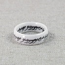 Lord of the Rings (The Hobbit) - One Ring (white ceramic) размер 9