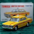 LV-129a - toyopet crown taxi (yellow) (Tomica Limited Vintage Diecast 1/64)