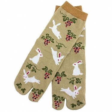Two-Toe Socks - Rabbit with Grape