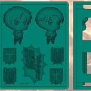 Attack on Titan - Silicone Ice Tray - Chimi Shingeki - Levi - Eren Yeager