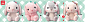 Pote Usa Loppy Sugar Rabbit Plush Collection - Mimipyon Big