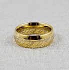 Lord of the Rings (The Hobbit) - One Ring (gold tungsten carbide) размер 7