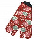 Two-Toe Socks - Red Camellia