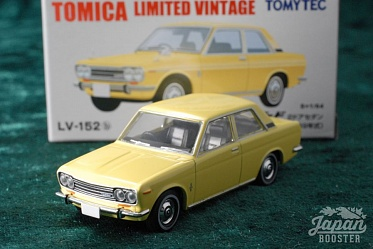 LV-152b - datsun bluebird 2door sedan 1300 dx 1969 (yellow) (Tomica Limited Vintage Diecast 1/64)