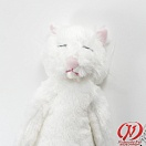 Good Night Meow Stuffed Toy - White Cat
