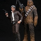 Star Wars: The Force Awakens - Han Solo - Chewbacca - ARTFX+