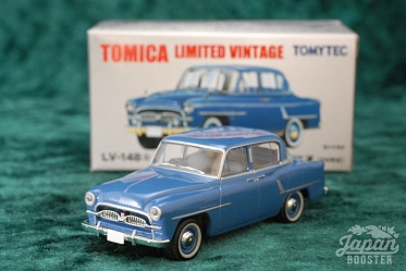 LV-148a - toyopet crown deluxe 1956 (blue) (Tomica Limited Vintage Diecast 1/64)