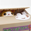 Itazura Coin Bank - Piggy Bank - Tabby Kitty Cat