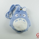 Tonari no Totoro - Totoro and small Totoro blue - purse large