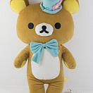 Brown Rilakkuma Bear Blue Hat
