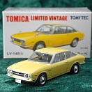 LV-145b - isuzu 117 coupe (yellow) (Tomica Limited Vintage Diecast 1/64)