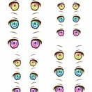 Decals eyes series 35 for 1/6 scale heads