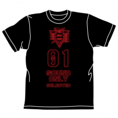 Evangelion SOUND ONLY T-shirt BLACK L