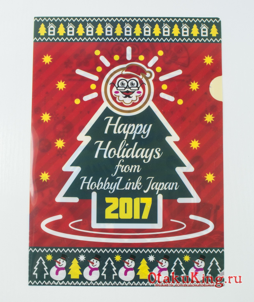Clear File - Happy Holidays from HobbyLink Japan 2017