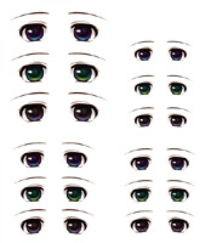 Decals eyes series 3 for 1/6 scale heads