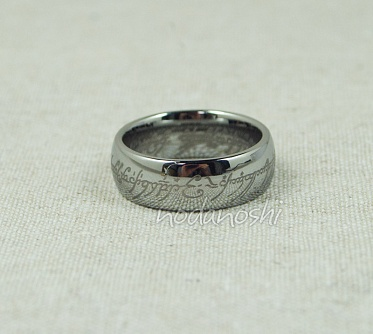 Lord of the Rings (The Hobbit) - One Ring (silver tungsten carbide) размер 8