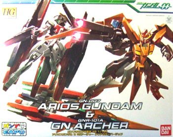 (HG) GN-007 Arios Gundam and GNR-101A GN Archer