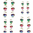 Decals eyes series 33 for 1/6 scale heads